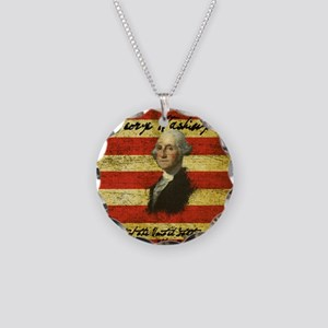Washington Necklace Circle Charm
