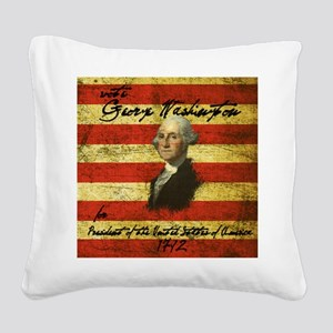 Washington Square Canvas Pillow