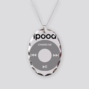 iPood, Funny Baby, iPod Necklace Oval Charm
