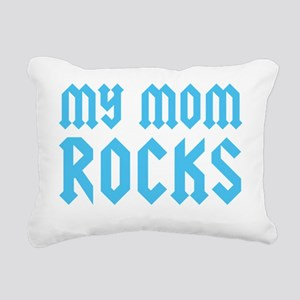 mymomrocksblueCP Rectangular Canvas Pillow