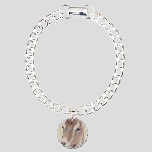 LaMancha Doe Portrait Charm Bracelet, One Charm