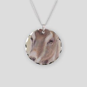 LaMancha Doe Portrait Necklace Circle Charm