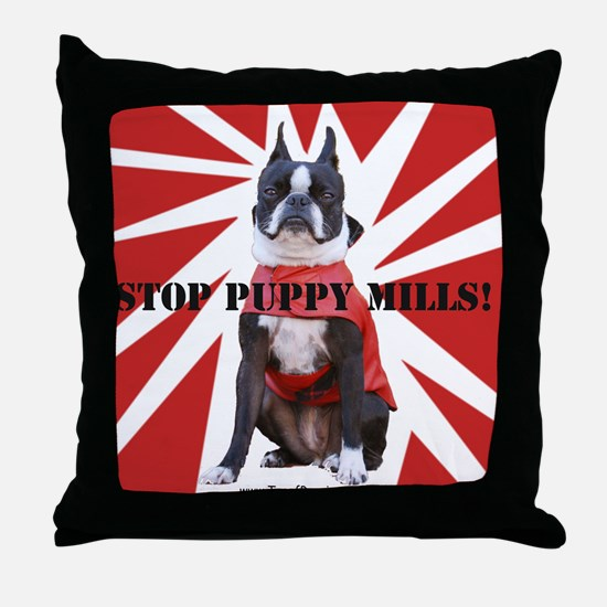 10x10_StopPuppyMill Throw Pillow