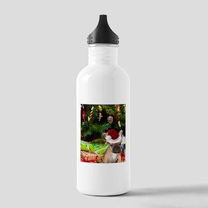 christmas French bulldog 4 Water Bottle