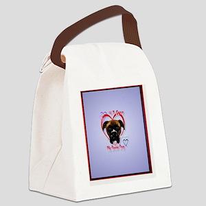 HeartcharmI Love My Boxer Dog Canvas Lunch Bag