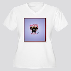 HeartcharmI Love  Women's Plus Size V-Neck T-Shirt