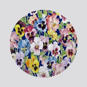 Pansies Round Ornament