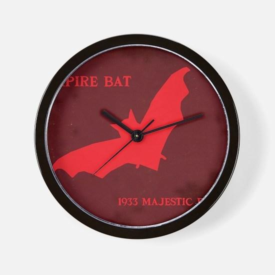 the vampire bat hartter Wall Clock