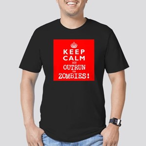 KEEP CALM but OUTRUN the ZOMBIES wr - Men's Fitted