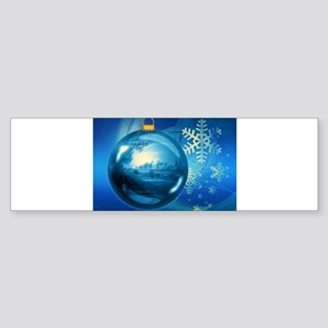 Blue Christmas Bumper Sticker