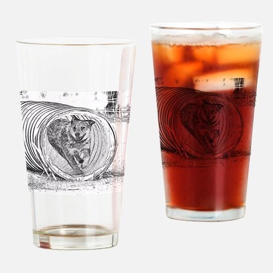 Tunnel Love Drinking Glass