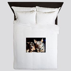 Cattle Dog Brothers Queen Duvet