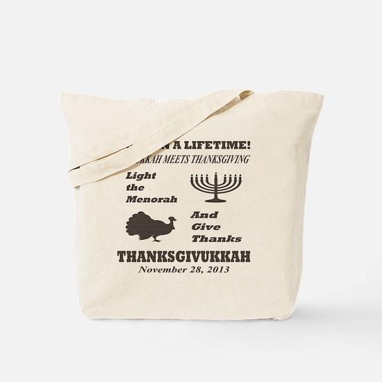 Thanksgiving meets Hanukkah - Thanksgivuk Tote Bag