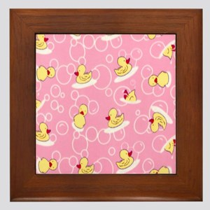 rubber ducks Framed Tile