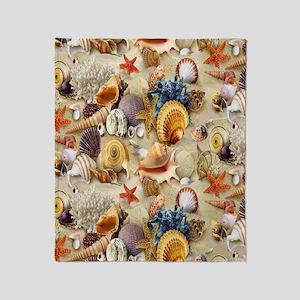 seashells Throw Blanket