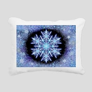 October Snowflake - wide Rectangular Canvas Pillow