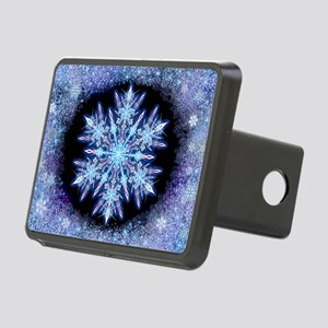 October Snowflake - wide Rectangular Hitch Cover