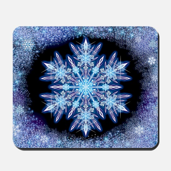 October Snowflake - wide Mousepad