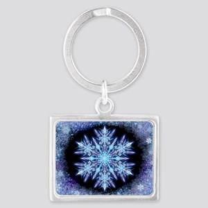 October Snowflake - wide Landscape Keychain