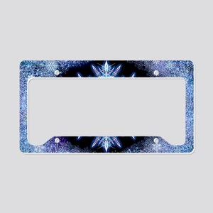 October Snowflake - wide License Plate Holder