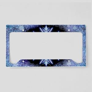 October Snowflake - wide License Plate Holder