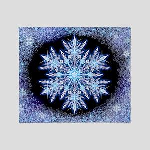 October Snowflake - wide Throw Blanket