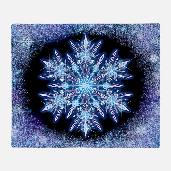 October Snowflake - wide Throw Blanket