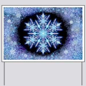 October Snowflake - wide Yard Sign