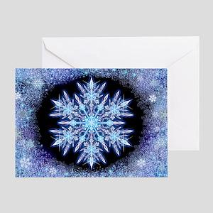 October Snowflake - wide Greeting Card