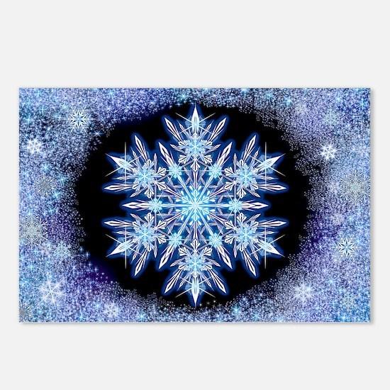 October Snowflake - wide Postcards (Package of 8)