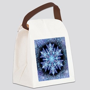 October Snowflake - square Canvas Lunch Bag