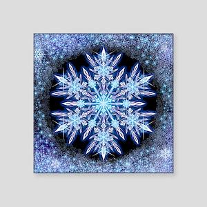 """October Snowflake - square Square Sticker 3"""" x 3"""""""