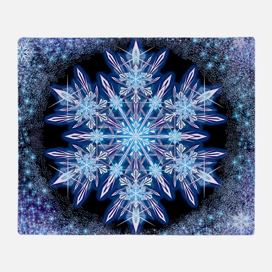 October Snowflake - square Throw Blanket