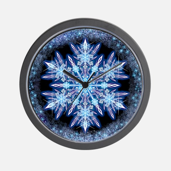 October Snowflake - square Wall Clock