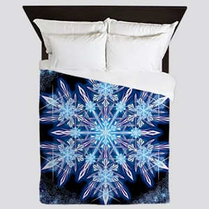 October Snowflake - square Queen Duvet