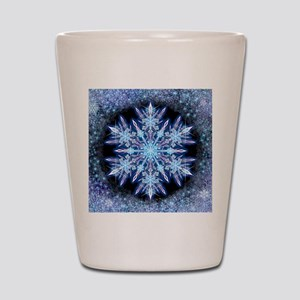 October Snowflake - square Shot Glass