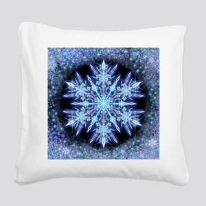 October Snowflake - square Square Canvas Pillow