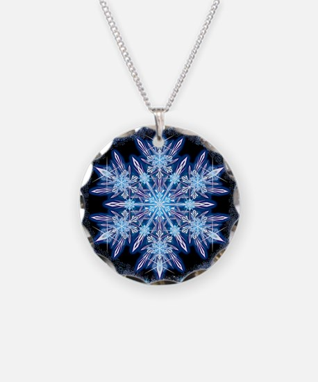 October Snowflake - square Necklace