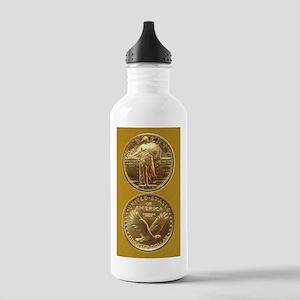Standing Liberty Gold Quarter Water Bottle