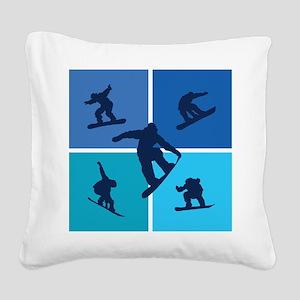 snowboarding Square Canvas Pillow