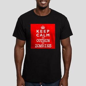 KEEP CALM but OUTRUN the ZOMBIES -wr2-- Men's Fitt