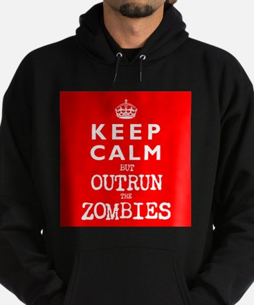 KEEP CALM but OUTRUN the ZOMBIES -wr2-- Hoodie