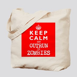 KEEP CALM but OUTRUN the ZOMBIES -wr2-- Tote Bag