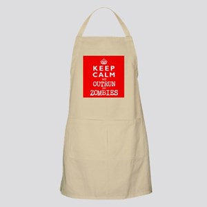 KEEP CALM but OUTRUN the ZOMBIES -wr2-- Apron