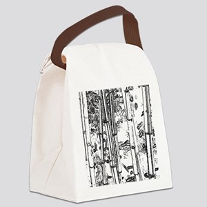 Bamboo Stems1 Canvas Lunch Bag
