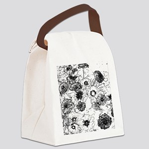 Zinnias Canvas Lunch Bag