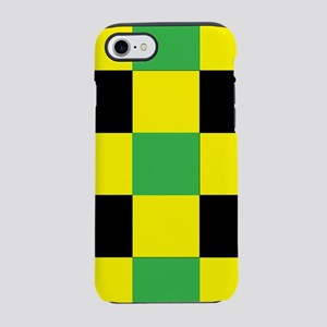 Black and Yellow and Green Square iPhone 7 Tough C