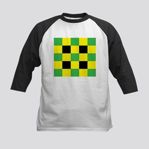 Black and Yellow and Green Square Baseball Jersey