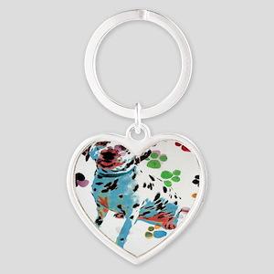 2 Heart Keychain