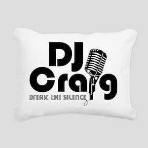 DJ Craig Logo Black Rectangular Canvas Pillow